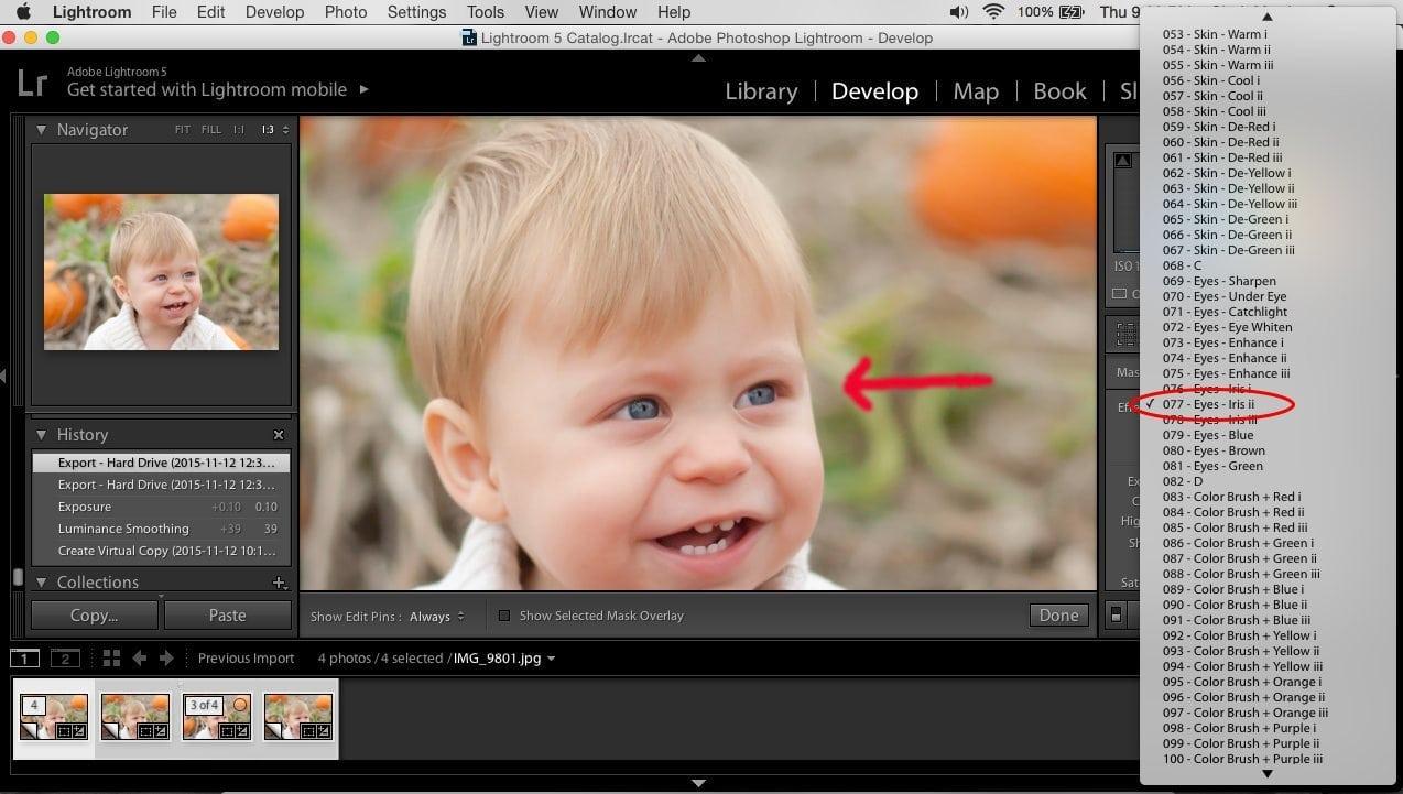Presetpro.com Lightroom Brush Tutorial: Eye Enhancement