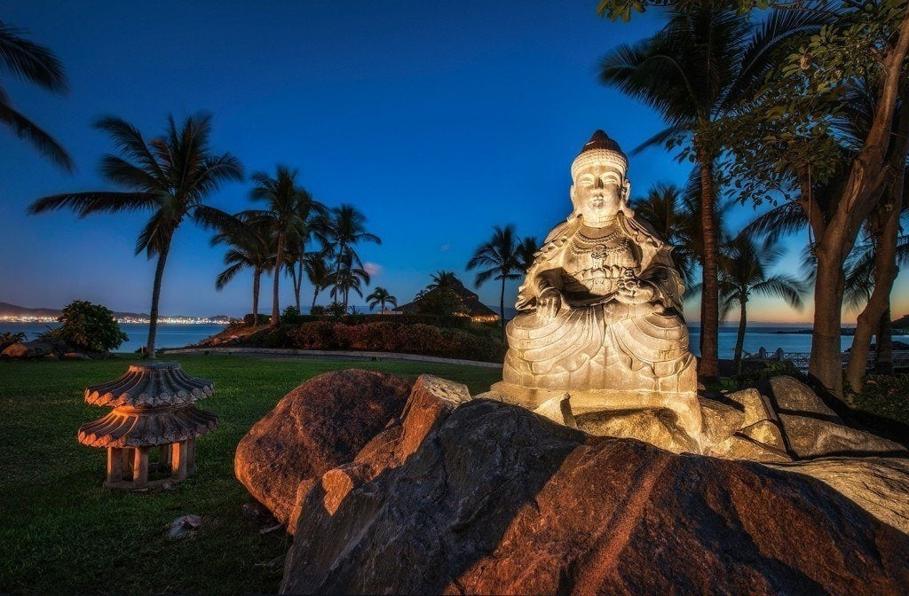 Creative Edit: Buddha at Night - Tim Martin
