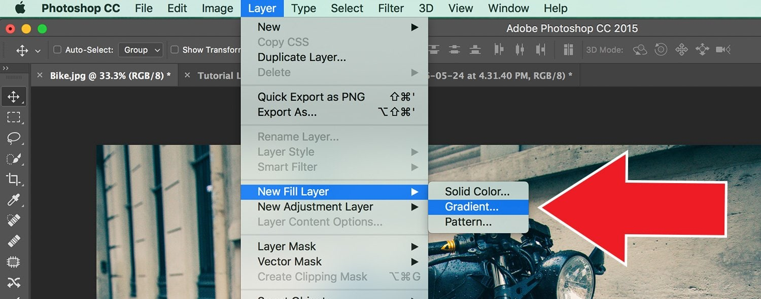 How to Make Vintage Light Leaks in Photoshop Step One