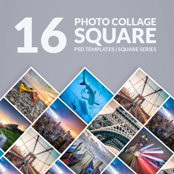 Photoshop Templates Photo Collage – Square Series