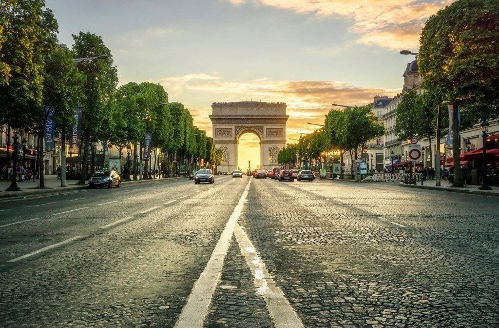 HDR-Photography-Sunset-at-the-Arc-de-Triomphe