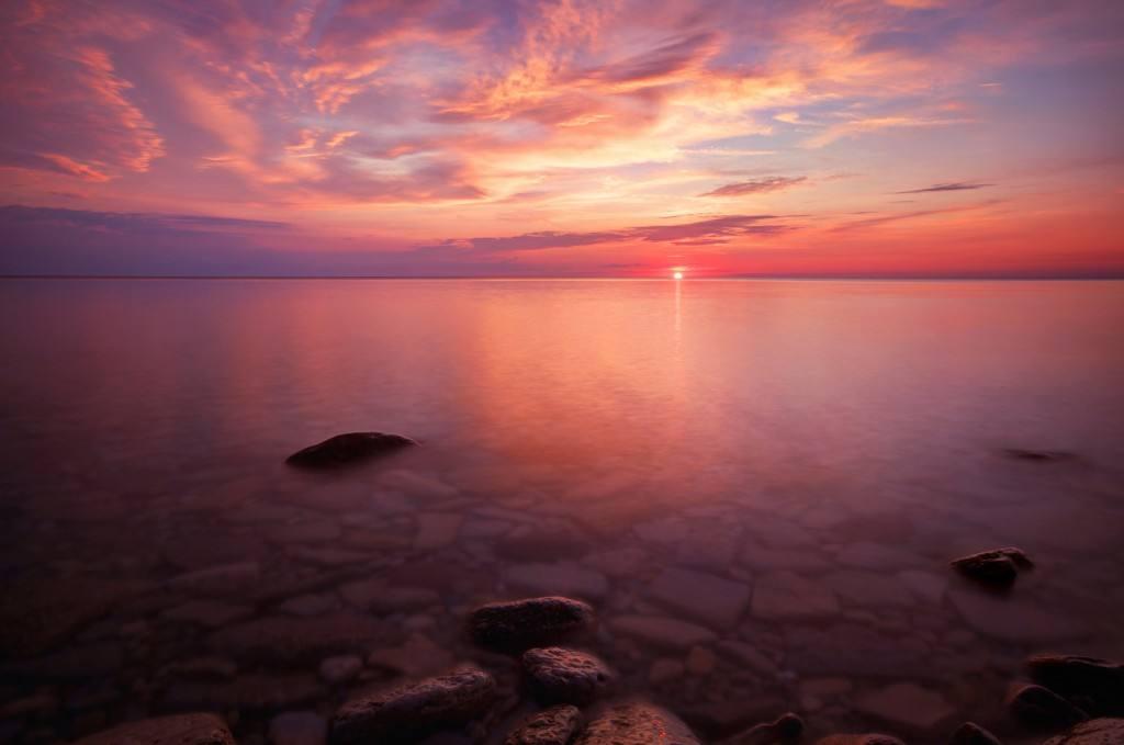 Blending Light HDR Photography Colourful Sunrise