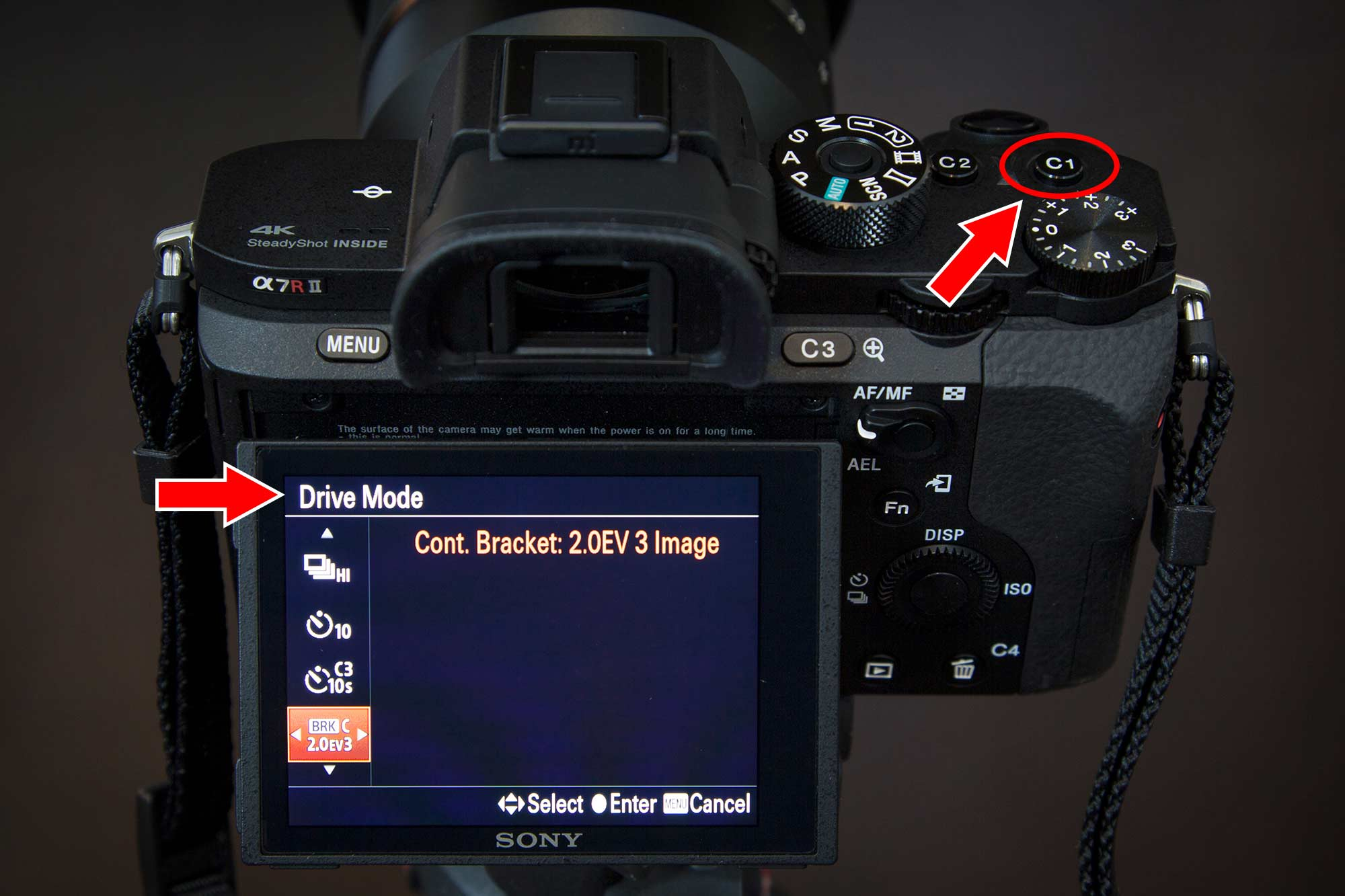 Sony a7r ii Customize Your Buttons Drive Mode