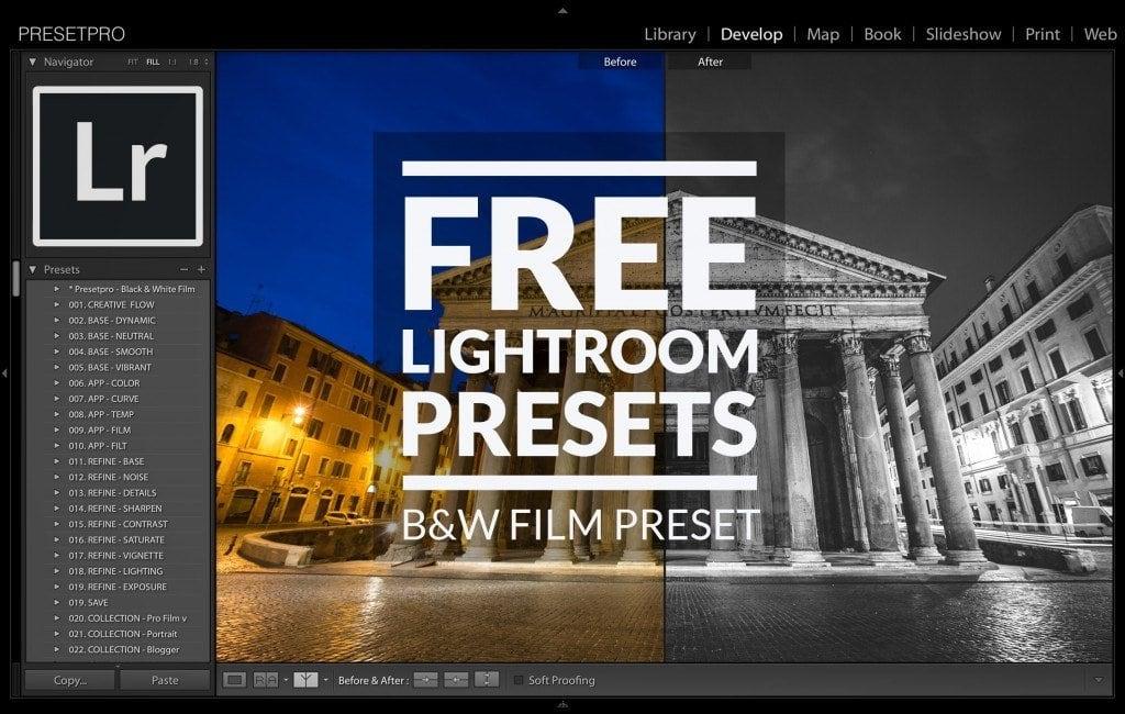 Free-Lightroom-Preset-Black-and-White-Film-Cover