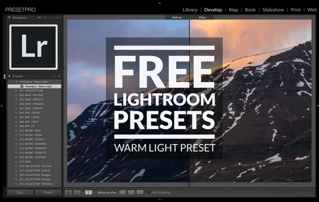 Free Lightroom Preset Warm Light